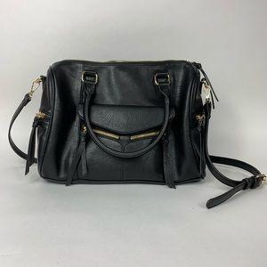 Black Satchel Handbag Purse